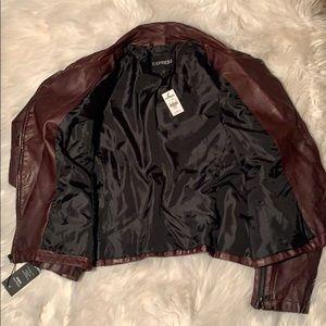 Express Jackets & Coats - Express Burgundy Minus the Leather Moto Jacket